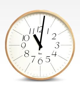 Riki clock(壁掛時計) デザイン:渡辺力